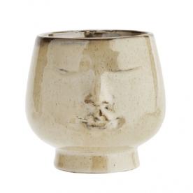Cache Pot Céramique Visage Petit Format - Madam Stoltz