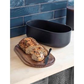 Boîte à pain avec couvercle en bois