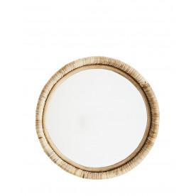 Miroir rond avec cadre en bambou Madam Stoltz