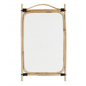 Miroir en bambou rectangulaire Madam Stoltz