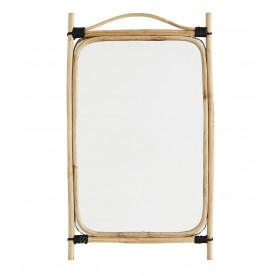 Miroir en bambou rectangulaire - Madam Stoltz