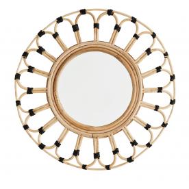 Miroir rond en bambou - Madam Stoltz