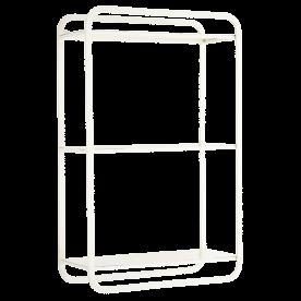 Etagère Design 3 Tablettes en Métal Blanc - Madam Stoltz