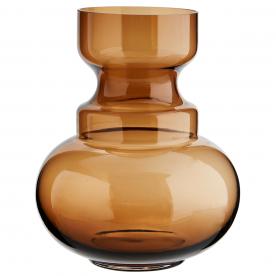 Vase rond en verre brun Madam Stoltz