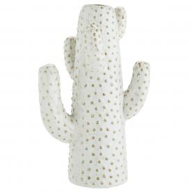 Vase Cactus Grès Blanc - Madam Stoltz