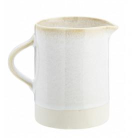 Pichet blanc en grès - Madam Stoltz