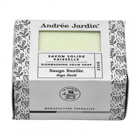 """Savon solide pour la vaisselle Sauge Basilic """"Andrée Jardin"""""""