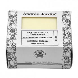 """Savon solide pour la vaisselle menthe citron """"Andrée Jardin"""""""