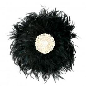 Juju Hat en Plumes - Noir