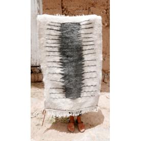 Tapis Kilim Marocain Blanc & Noir